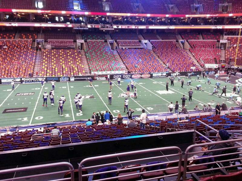Seating view for Wells Fargo Center Section CB24 Row 1 Seat 9