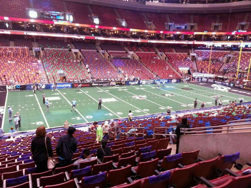 Seating view for Wells Fargo Center Section Club Box 11 Row 1 Seat 12
