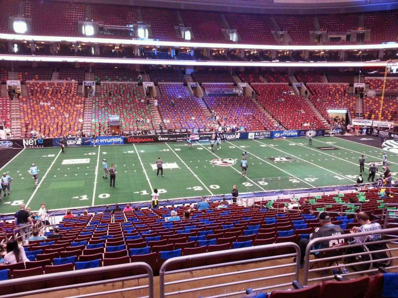 Seating view for Wells Fargo Center Section Club Box 12 Row 1 Seat 4