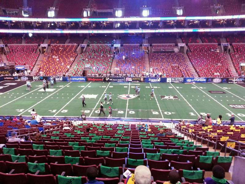 Seating view for Wells Fargo Center Section SB13 Row 1 Seat 10