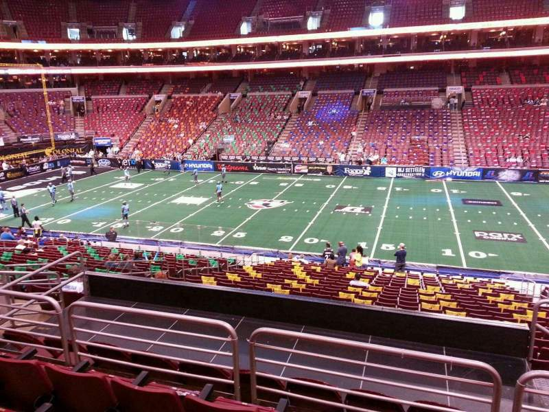 Seating view for Wells Fargo Center Section Club Box 14 Row 1 Seat 12