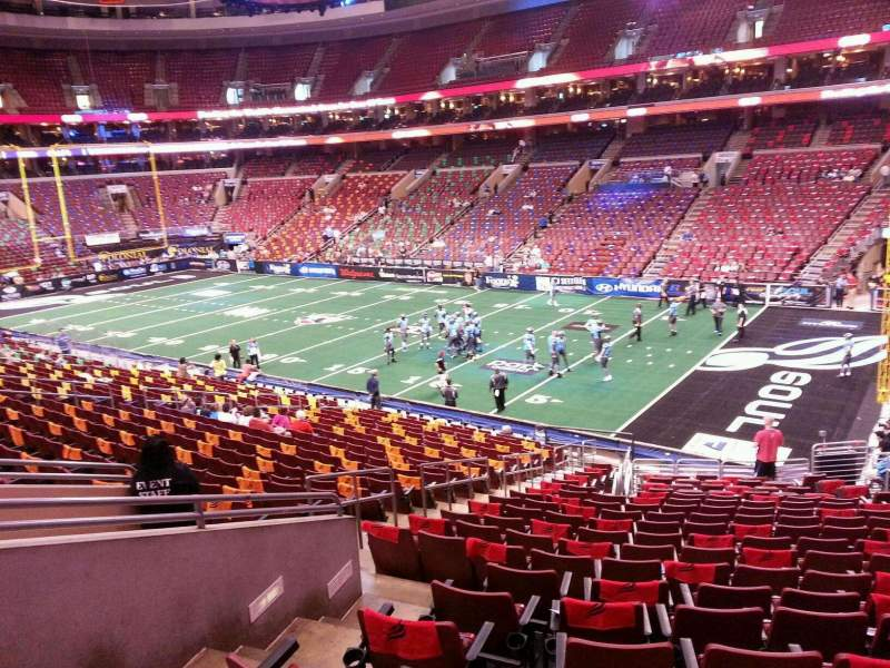 Seating view for Wells Fargo Center Section CB16 Row 1 Seat 6