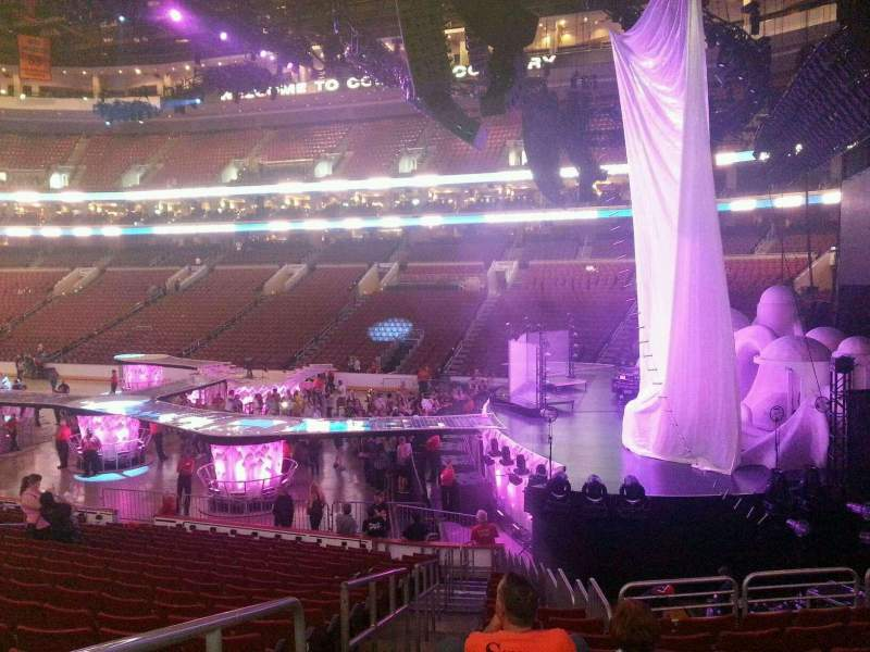 Seating view for Wells Fargo Center Section 116 Row 18 Seat 1