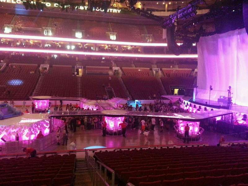 Seating view for Wells Fargo Center Section 114 Row 17 Seat 20