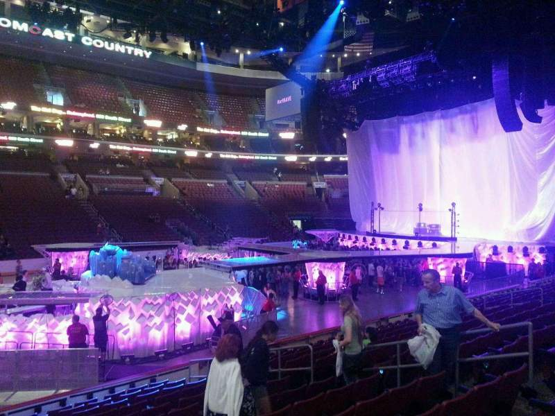 Seating view for Wells Fargo Center Section 112 Row 13 Seat 11