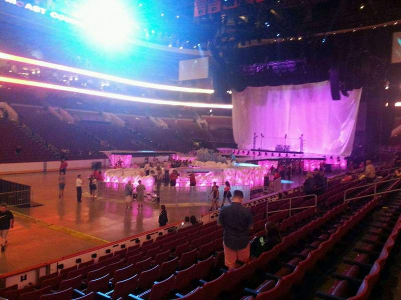 Seating view for Wells Fargo Center Section 110 Row 11 Seat 13