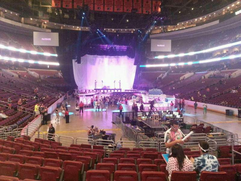 Seating view for Wells Fargo Center Section 106 Row 11 Seat 6