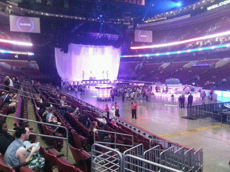 Seating view for Wells Fargo Center Section 104 Row 11 Seat 10
