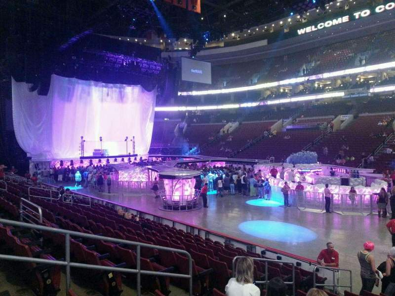 Seating view for Wells Fargo Center Section 103 Row 11 Seat 6