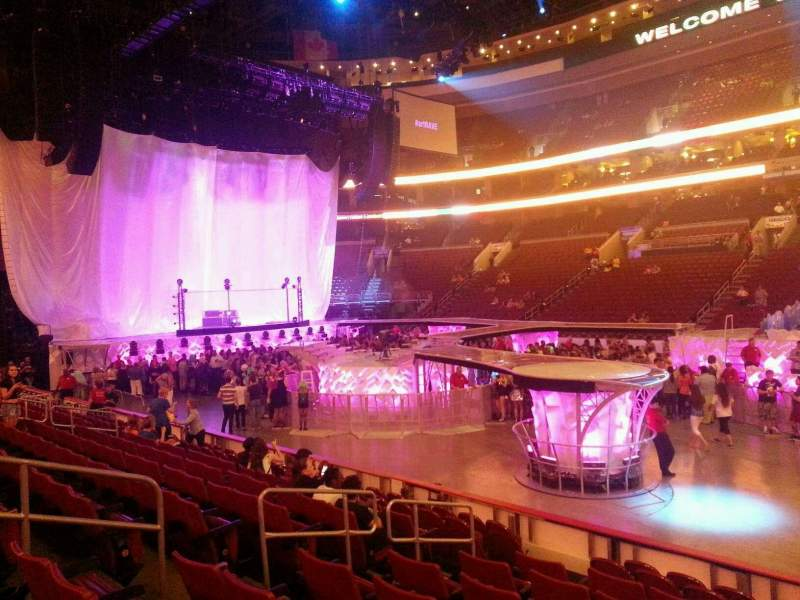 Seating view for Wells Fargo Center Section 102 Row 10 Seat 8