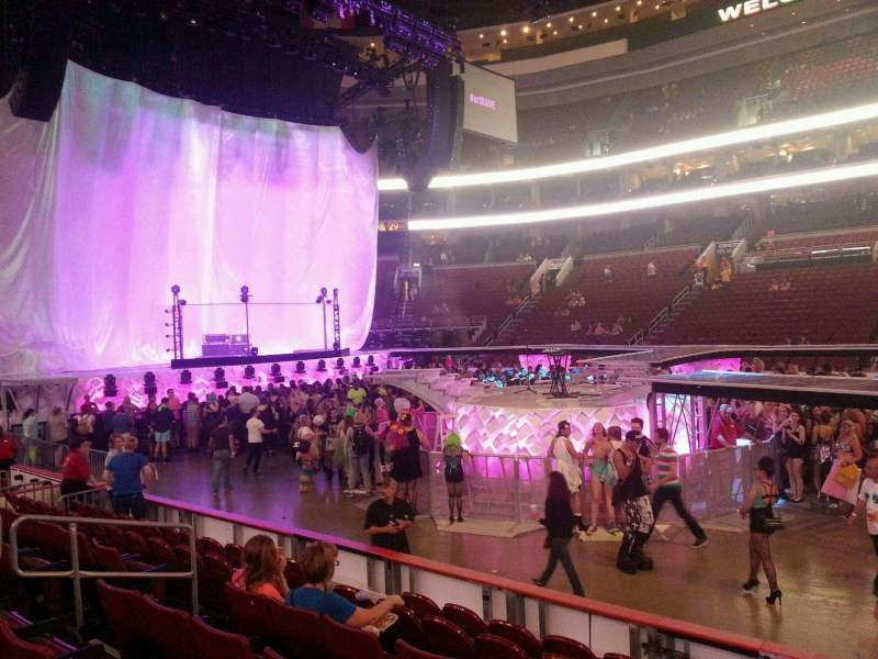 Seating view for Wells Fargo Center Section 101 Row 7 Seat 6