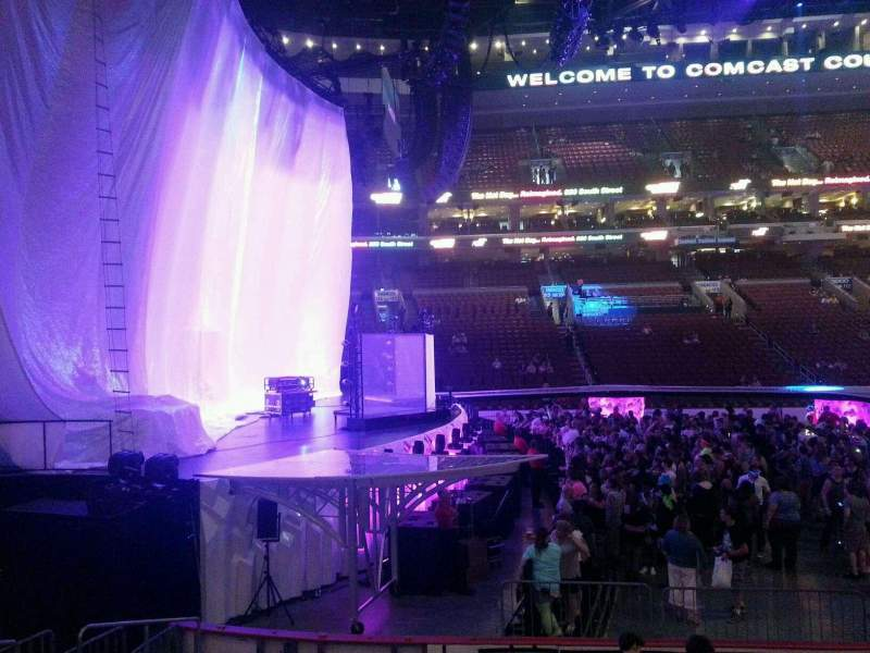 Seating view for Wells Fargo Center Section 123 Row 10 Seat 8