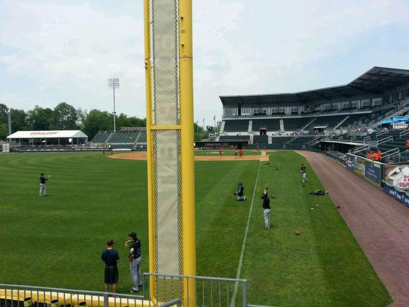 Seating view for FNB Field Section 410
