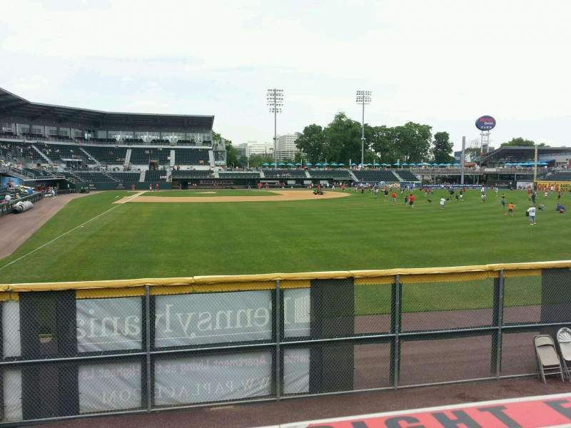 Seating view for FNB Field Section RF barstools Row 1 Seat 20