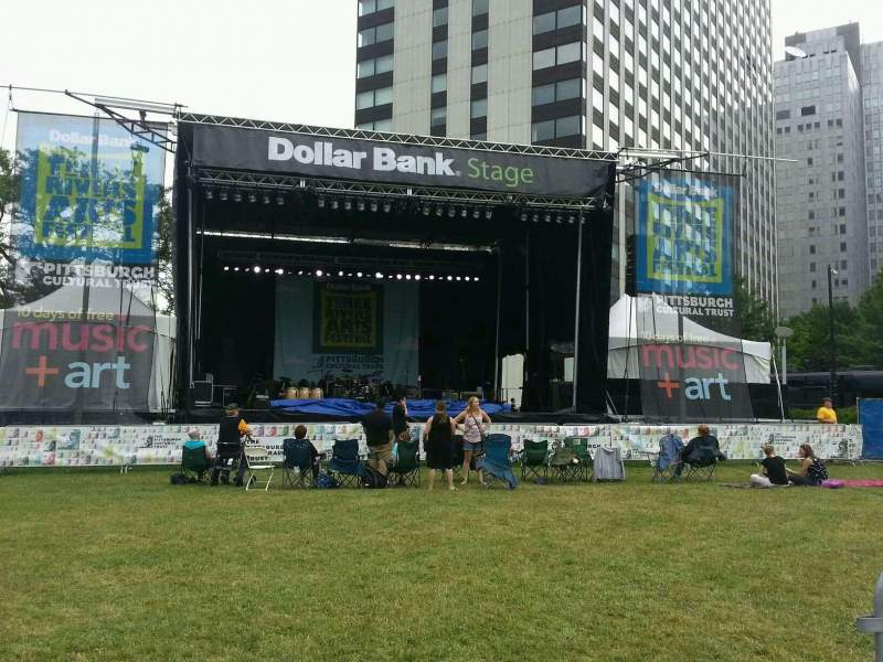 Seating view for Dollar Bank Main Stage Section ga