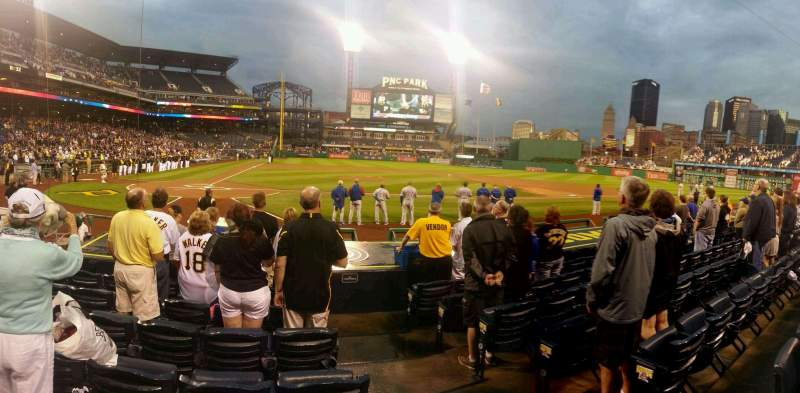 Seating view for PNC Park Section 13 Row m Seat 1