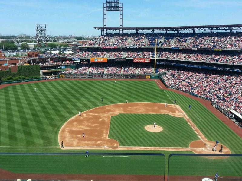 Seating view for Citizens Bank Park Section 426 Row 2 Seat 10