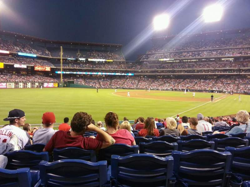 Seating view for Citizens Bank Park Section 139 Row 25 Seat 7