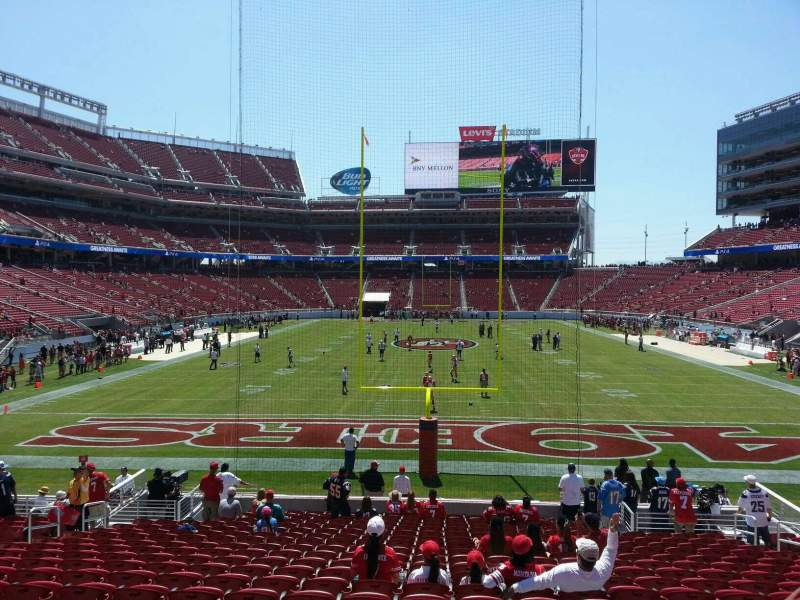 Seating view for Levi's Stadium Section 103 Row 19 Seat 12