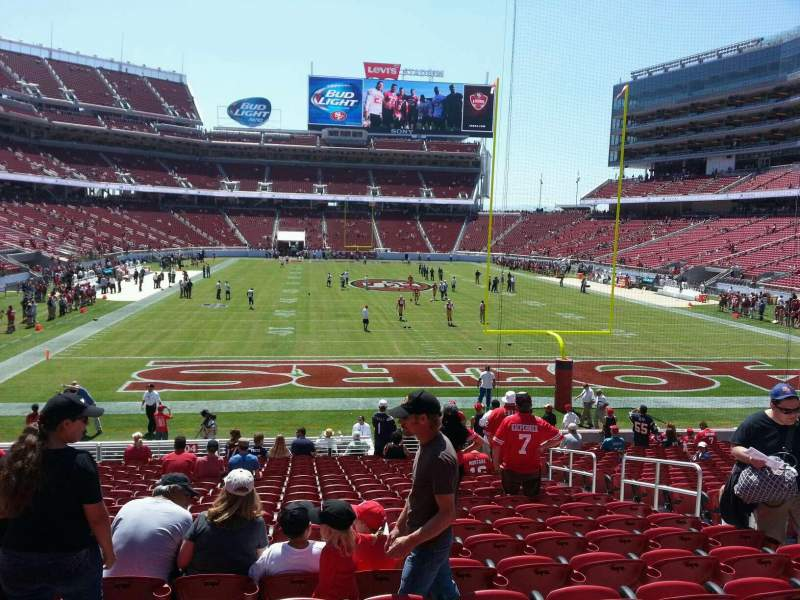 Seating view for Levi's Stadium Section 104 Row 20 Seat 8