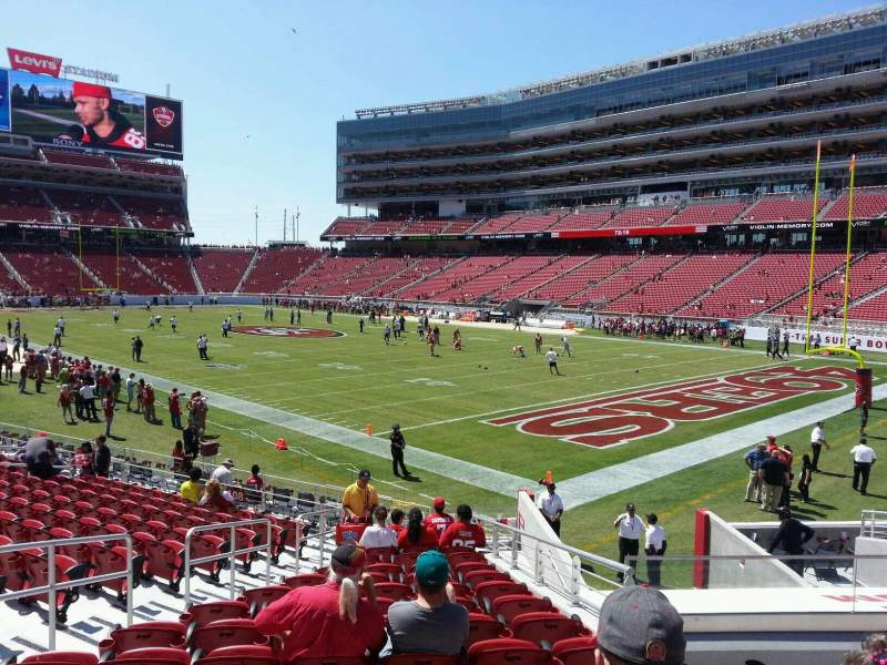Seating view for Levi's Stadium Section 107 Row 17 Seat 15