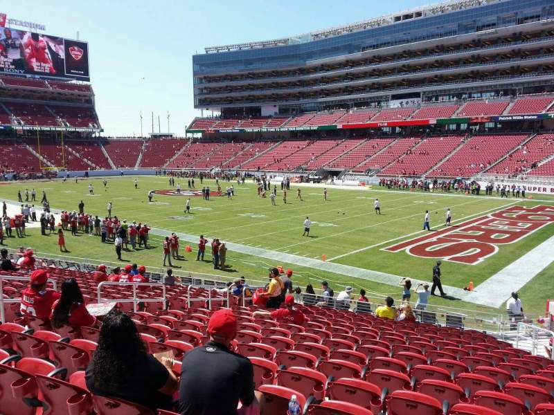 Seating view for Levi's Stadium Section 108 Row 19 Seat 16