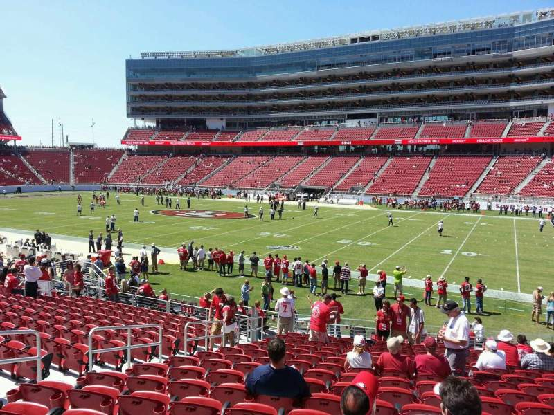 Seating view for Levi's Stadium Section 110 Row 19 Seat 10