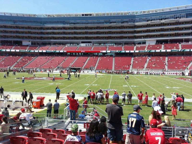 Seating view for Levi's Stadium Section 112 Row 12 Seat 4