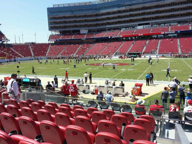 Seating view for Levi's Stadium Section 113 Row 13 Seat 1