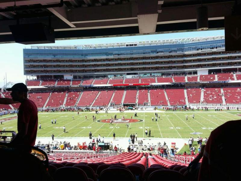 Seating view for Levi's Stadium Section 114 Row bar rail