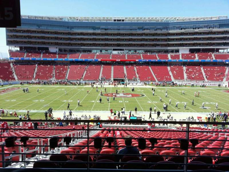 Seating view for Levi's Stadium Section 115 Row ada