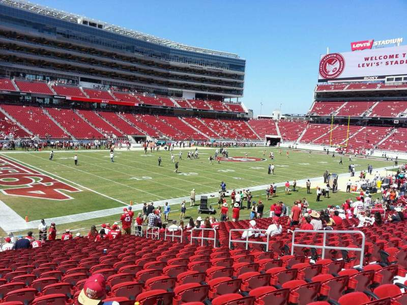 Seating view for Levi's Stadium Section 122 Row 23 Seat 10