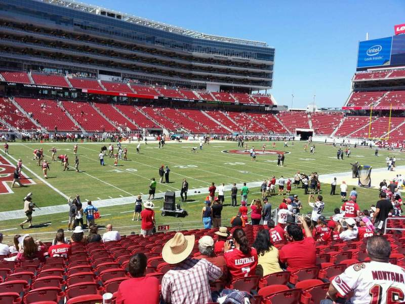 Seating view for Levi's Stadium Section 121 Row 16 Seat 17