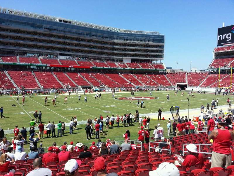 Seating view for Levi's Stadium Section 120 Row 16 Seat 16