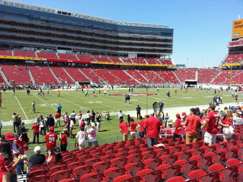 Seating view for Levi's Stadium Section 119 Row 12 Seat 15