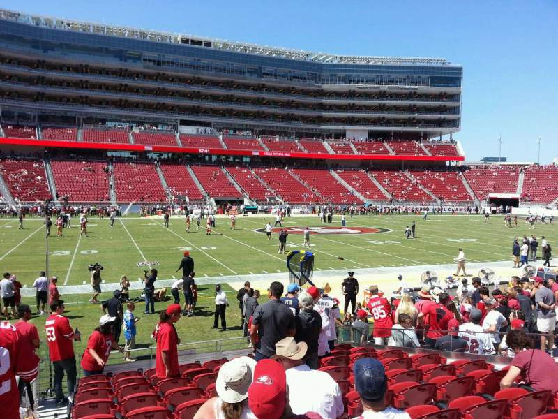 Seating view for Levi's Stadium Section 118 Row 11 Seat 16
