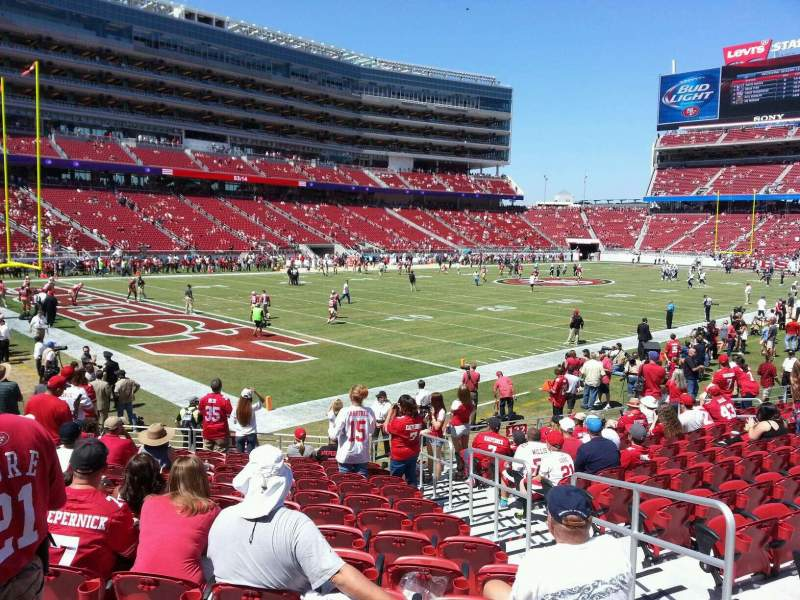 Seating view for Levi's Stadium Section 123 Row 12 Seat 15