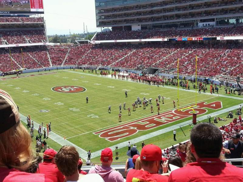 Seating view for Levi's Stadium Section 207 Row 10 Seat 5