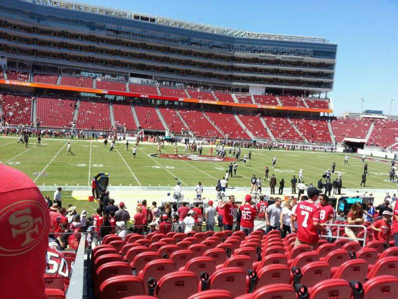 Seating view for Levi's Stadium Section 117 Row 16 Seat 10