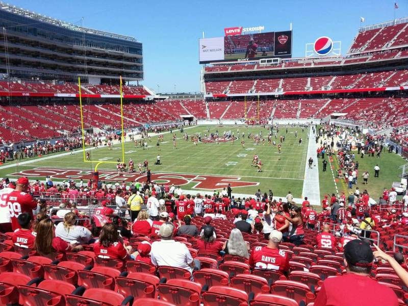Seating view for Levi's Stadium Section 125 Row 30 Seat 14