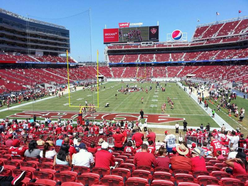 Seating view for Levi's Stadium Section 126 Row 30 Seat 6
