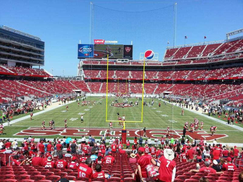 Seating view for Levi's Stadium Section 127 Row 25 Seat 14