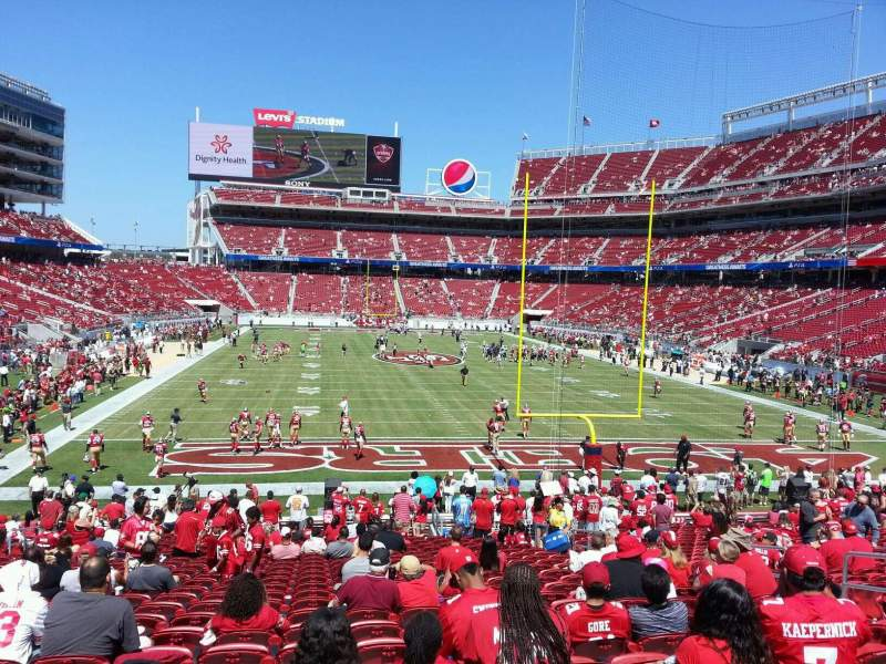 Seating view for Levi's Stadium Section 128 Row 24 Seat 10