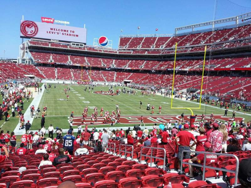 Seating view for Levi's Stadium Section 129 Row 22 Seat 6