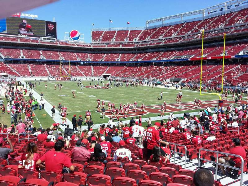 Seating view for Levi's Stadium Section 130 Row 18 Seat 16
