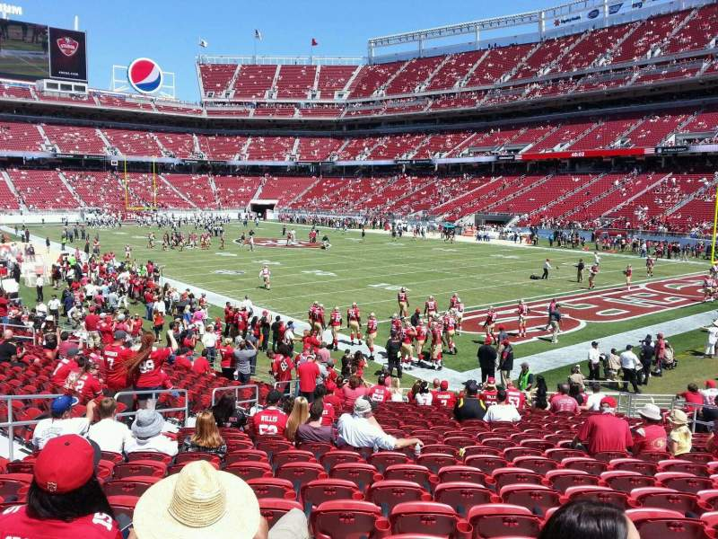 Seating view for Levi's Stadium Section 131 Row 19 Seat 12