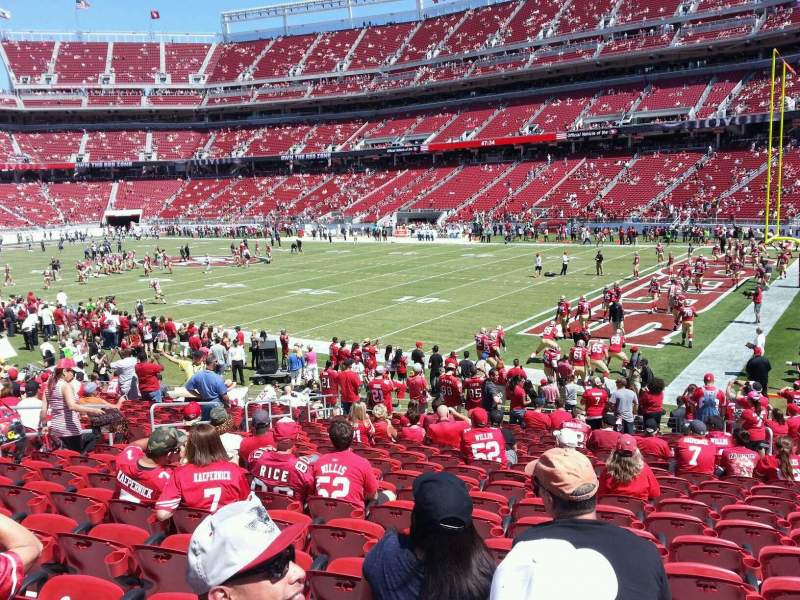 Seating view for Levi's Stadium Section 132 Row 19 Seat 19