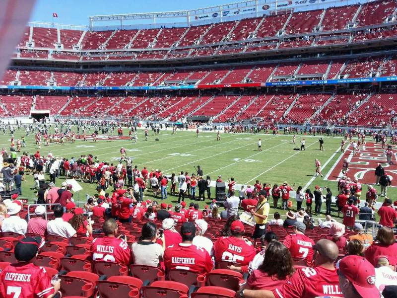 Seating view for Levi's Stadium Section 133 Row 17 Seat 7