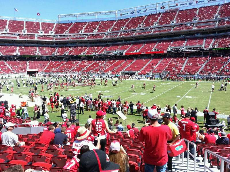 Seating view for Levi's Stadium Section 134 Row 15 Seat 1