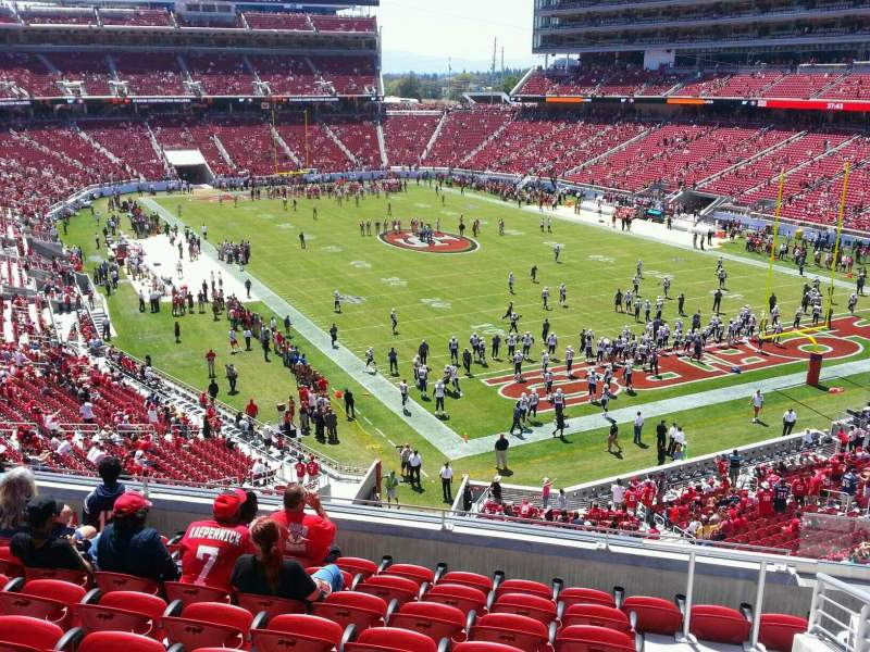 Seating view for Levi's Stadium Section 207 Row 9 Seat 4